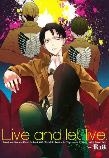 (COMIC CITY SPARK 8) [6109 (Kirishiki Tokico)] Live and let live. (Shingeki no Kyojin) [English] cover