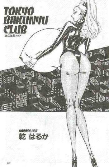"""Tokyo Bakunyo Club"" by Haruka Inui (the set of images for non-finished comic-book of the earliest 90-th) cover"